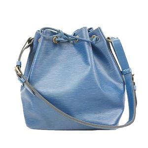 Auth Louis Vuitton Epi Petit Noe M44105 Women's Shoulder Bag Toledo Blue