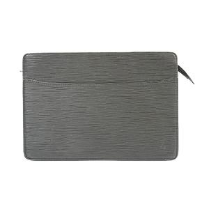 Auth Louis Vuitton Epi Pochette Homme M52522 Men's Clutch Bag Noir