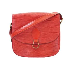 Auth Louis Vuitton Epi Saint Cloud M52197 Women's Shoulder Bag Castilian Red