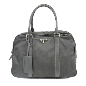 Auth Prada Briefcase Men's Nylon Briefcase Black