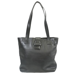 Auth Chanel Lambskin Tote bag Women's Leather Tote Bag Black