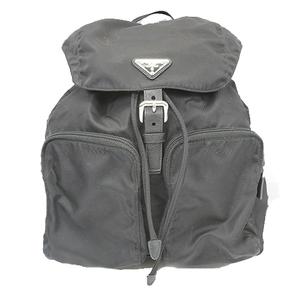 Auth Prada Backpackpack Tessuto Women's Nylon Backpack Black