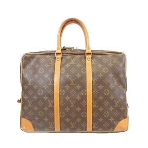Auth Louis Vuitton Monogram Porte Documents Voyage M53361 Men's Briefcase