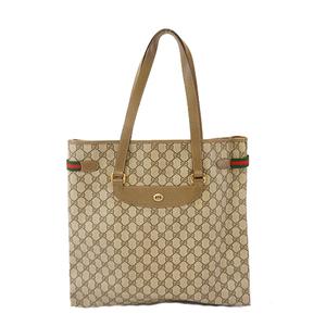 Auth Gucci Sherry Line Tote Bag 39 02 091 Women's GG Supreme Tote Bag Beige