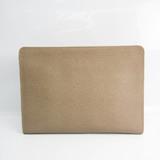 Valextra Men's Leather Clutch Bag Grayish