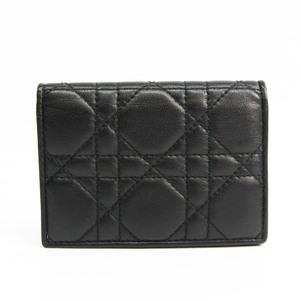 クリスチャン・ディオール(Christian Dior) カナージュ レザー カードケース ブラック