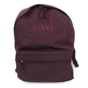 バレンシアガ(Balenciaga) Explorer Homme Backpack 459744 ユニセックス ナイロンキャンバス リュックサック ワイン