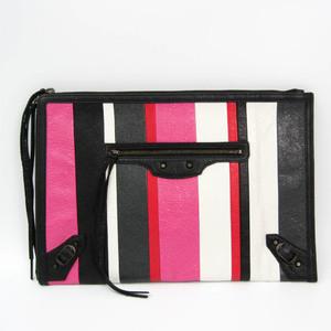 バレンシアガ(Balenciaga) CLASSIC POUCH 362967 ユニセックス レザー クラッチバッグ ブラック,ピンク,レッド,ホワイト
