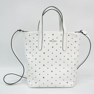 Jimmy Choo SOFIA N / S YSN Women's Leather Studded Handbag,Shoulder Bag White