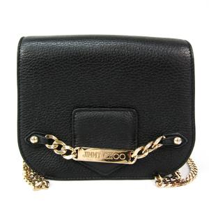 Jimmy Choo SHADOW Women's Leather Shoulder Bag Black