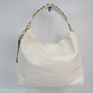 Jimmy Choo CALLIE / L Women's Leather Shoulder Bag Off-white