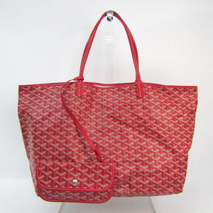 Goyard Saint Louis GM Women's Leather,Coated Canvas Tote Bag Red Color