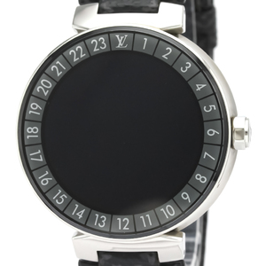 Louis Vuitton Tambour Quartz Stainless Steel Men's Sports Watch QA004Z