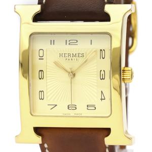 エルメス(Hermes) Hウォッチ クォーツ ゴールドプレーティング(GP) メンズ ドレスウォッチ HH1.801