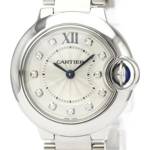カルティエ(Cartier) バロンブルー クォーツ ステンレススチール(SS) レディース ドレスウォッチ WE902073