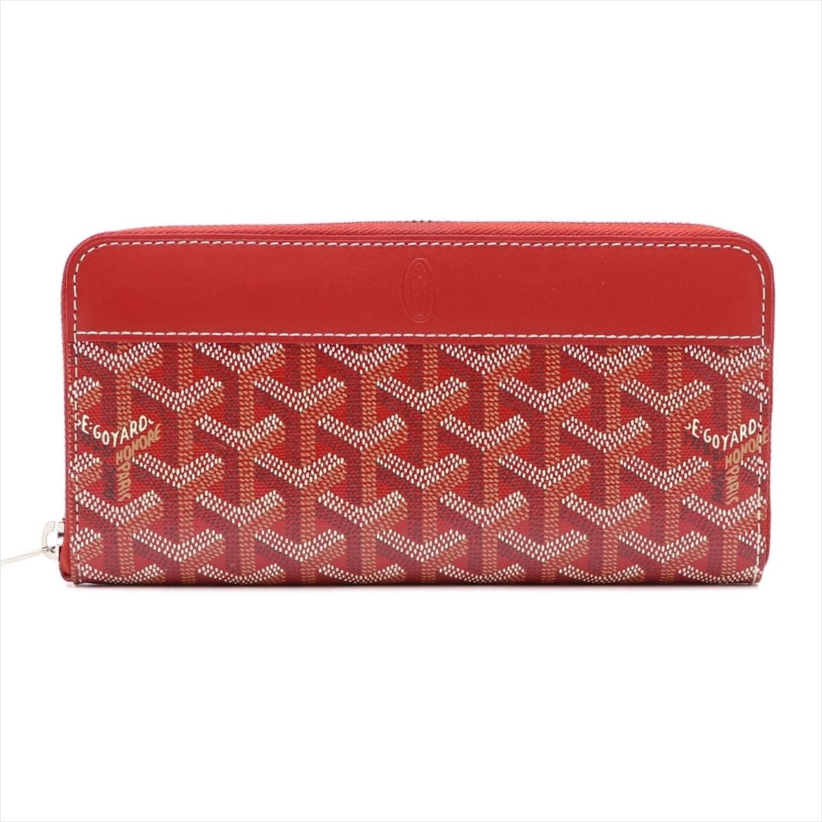 ゴヤール(Goyard) フィルマティニョン APMZIP GM ユニセックス PVC カーフスキン 財布 レッド