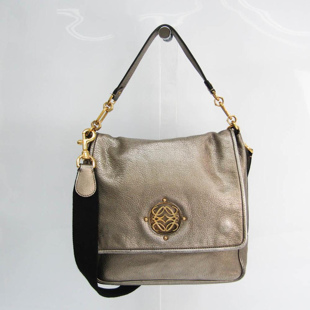 Loewe Women's Leather Handbag,Shoulder Bag Bronze
