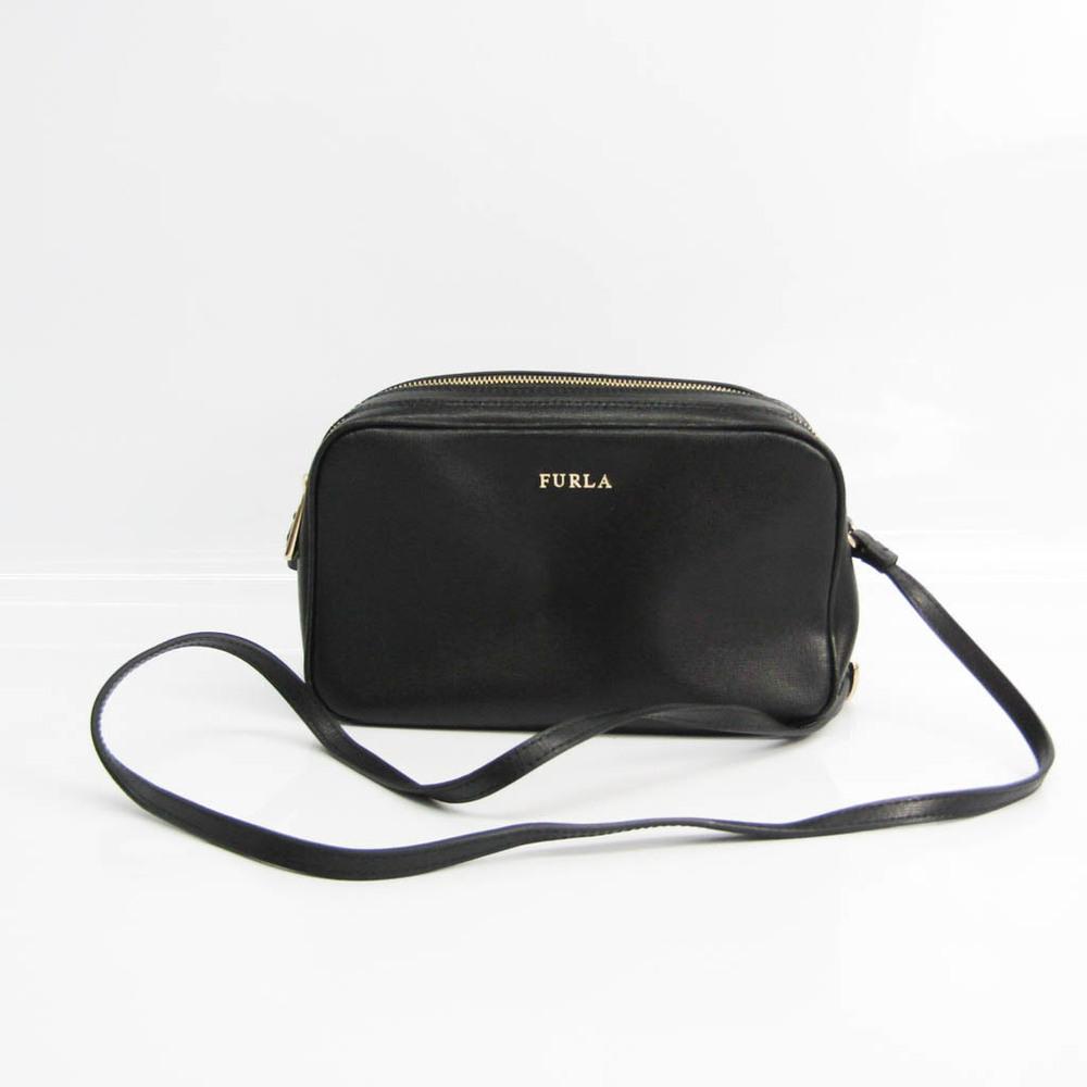 Furla Women's Leather Shoulder Bag Black