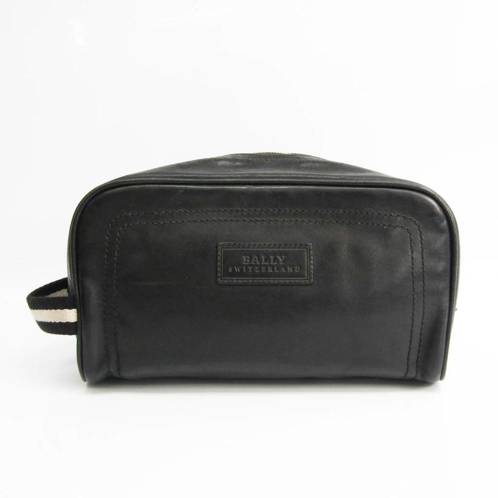Bally Men's Leather Clutch Bag Black