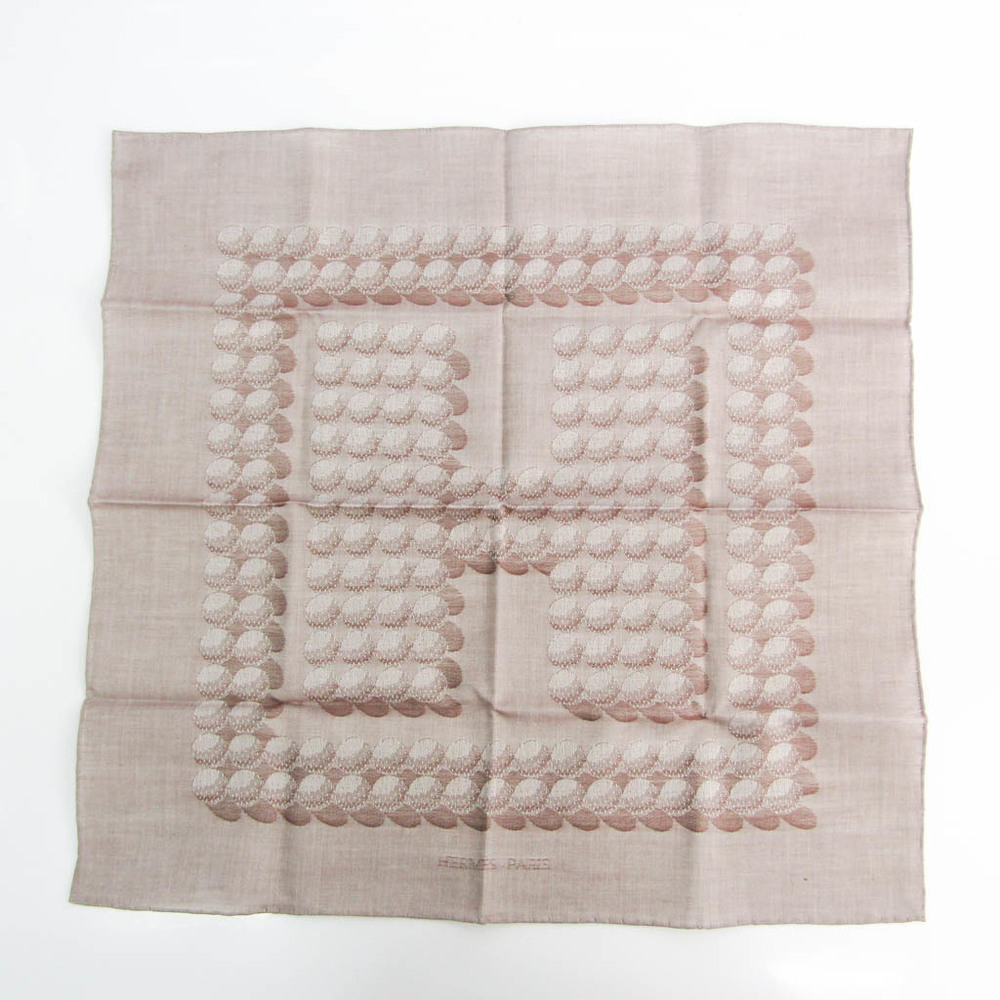 Hermes Curry 45 Women's Cotton Scarf Brown,Gray