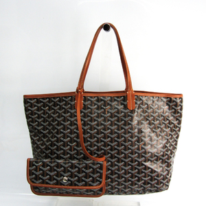 Goyard Saint Louis PM Women's Coated Canvas,Leather Tote Bag Black,Brown,White