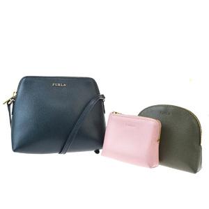 Furla 3-piece Set Leather Shoulder Bag Green