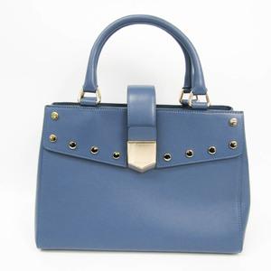Jimmy Choo Women's Leather Studded Handbag Blue