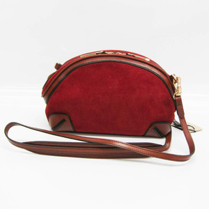 Burberry Women's Leather,Suede Shoulder Bag Brown,Red Brown