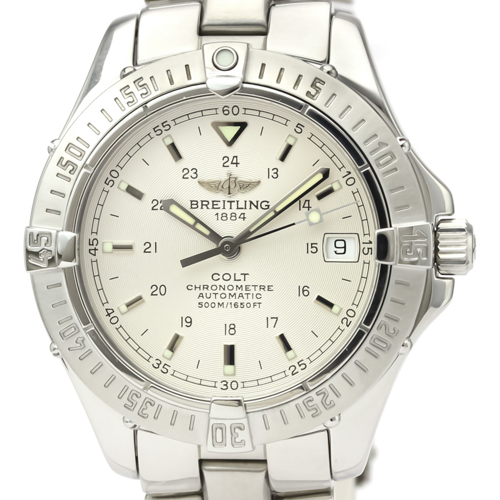 BREITLING Colt Automatic Steel Automatic Mens Watch A17350