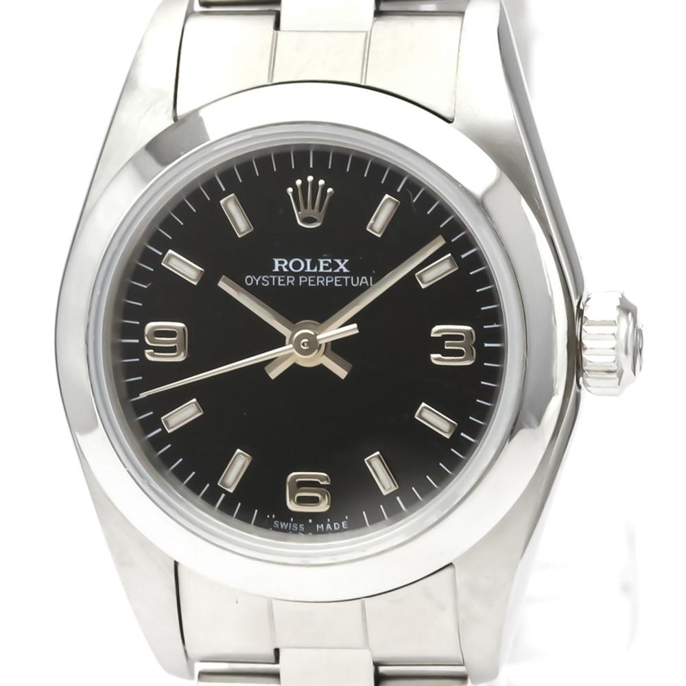 ロレックス(Rolex) オイスター・パーペチュアル 自動巻き ステンレススチール(SS) レディース ドレスウォッチ 76080