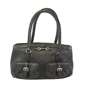 Christian Dior Handbag Women's Leather Handbag Black