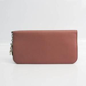 クリスチャン・ディオール(Christian Dior) レディース レザー 長財布(二つ折り) ピンクベージュ