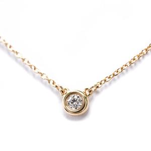 ティファニー(Tiffany) ダイヤモンド バイ ザ ヤード K18ピンクゴールド(K18PG) ダイヤモンド レディース ペンダントネックレス バイザヤード
