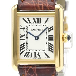 カルティエ(Cartier) タンクソロ クォーツ ステンレススチール(SS),K18イエローゴールド(K18YG) レディース ドレスウォッチ W5200002