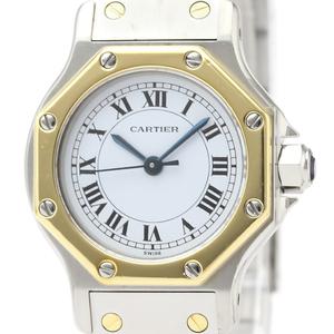 CARTIER Santos Octagon 18K Gold Steel Automatic Ladies Watch