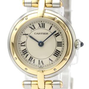 Cartier Panthere Round Quartz Stainless Steel,Yellow Gold (18K) Women's Dress Watch