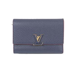 ルイヴィトン 三つ折り財布 トリヨン ポルトフォイユカプシーヌコンパクト M63741 マリーヌルージュ