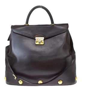 Salvatore Ferragamo 2WAY Leather Handbag Brown