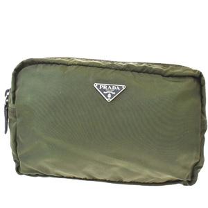 Prada Nylon,Leather Wash Bag Khaki