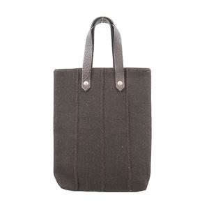 Auth Hermes Amedabadiego PM Women's Canvas Handbag,Tote Bag Brown