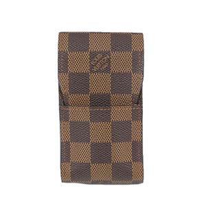 Auth Louis Vuitton Damier Etui Cigarette N63024 Cigarette Case Ebene