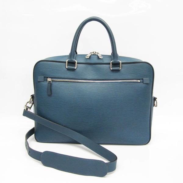Louis Vuitton Epi Porto Documan PDB M54043 Men's Briefcase,Shoulder Bag Bleu Celeste