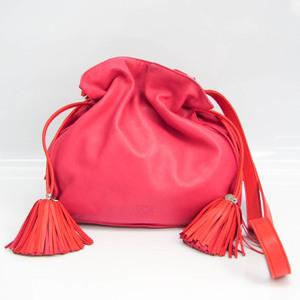 ロエベ(Loewe) フラメンコ レディース レザー ショルダーバッグ オレンジ,ピンク