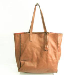 Prada Women's Leather Tote Bag Brown