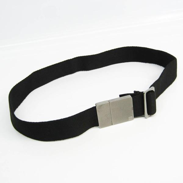 Gucci 109340 Unisex Canvas, Leather Standard Belt Black 80