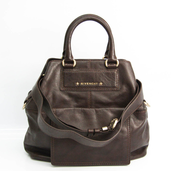 Givenchy Women's Leather Handbag,Shoulder Bag Dark Brown