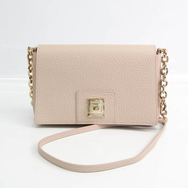 Furla 1043571 Women's Leather Shoulder Bag Pink Beige