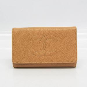 Chanel Women's Caviar Leather Key Case Beige