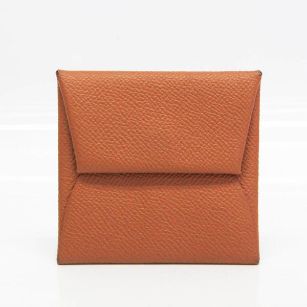 Hermes Bastia Women's Epsom Leather Coin Purse/coin Case Brown