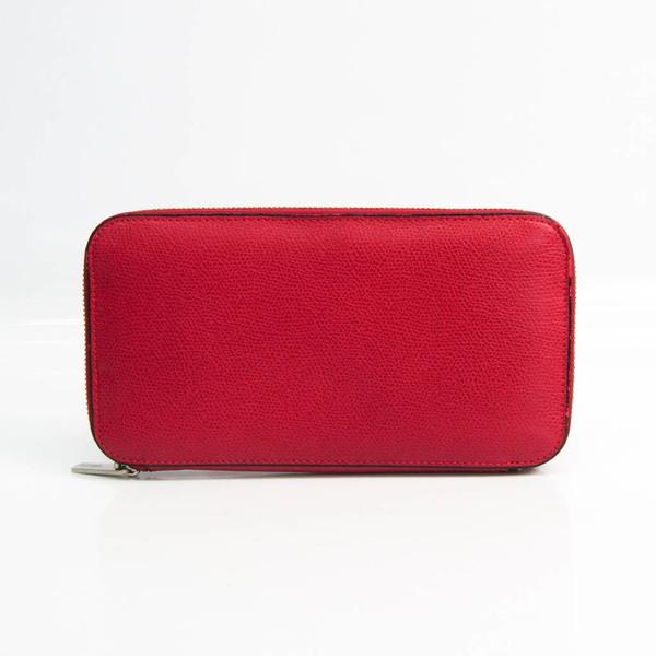 Valextra V9L06 Leather Long Wallet (bi-fold) Red Color